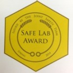 Reineke lab awarded Safest Lab by Joint Safety Team