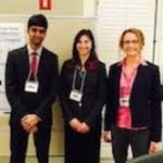 Haley and Yogesh present at Center for Genomic Engineering Poster Showcase