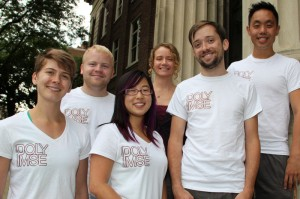 The UMN POLY/PMSE Student Chapter leadership team includes, from left, Cecilia Hall (president, chemistry), Leon Lillie (secretary, chemistry), Annabelle Lee (treasurer, chemistry), Theresa Reineke (faculty adviser, chemistry), Peter Schmidt (public relations, CEMS), and Jeff Ting (vice president, CEMS).